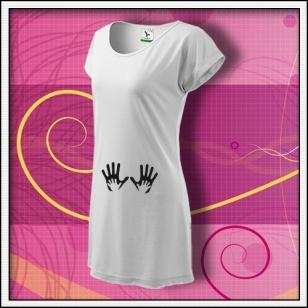 Ruky - biele tričko / šaty