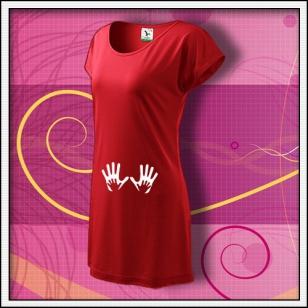 Ruky - červené tričko / šaty