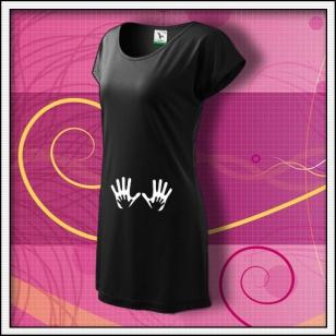 Ruky - čierne tričko / šaty