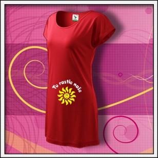 Tu rastie naše... - červené tričko / šaty