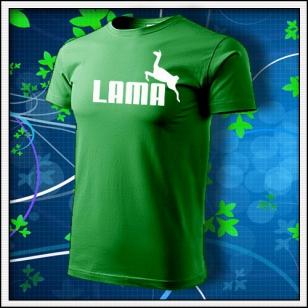 Lama - trávovozelené