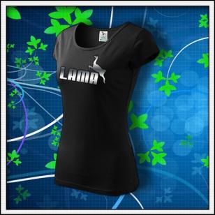 Lama - dámske tričko reflexná potlač