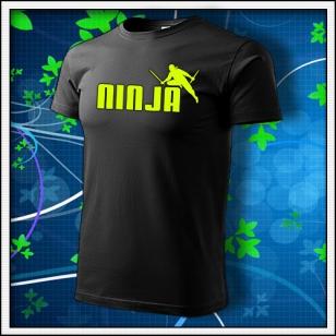 Ninja - unisex so žltou neónovou potlačou