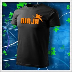 Ninja - unisex s oranžovovu neónovou potlačou