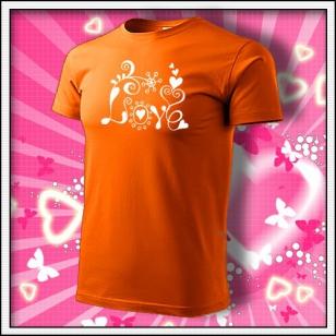 Love - oranžové