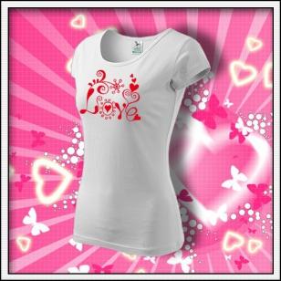 Love - dámske biele