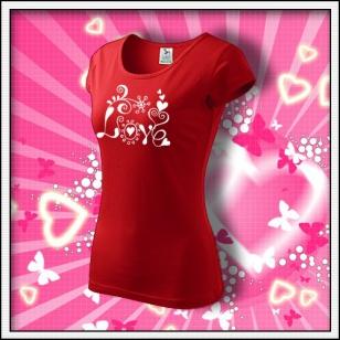 Love - dámske červené