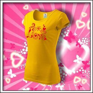 Love - dámske žlté