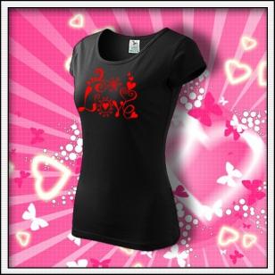 Love - dámske čierne