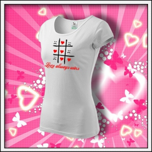 Love always wins - dámske biele