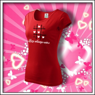Love always wins - dámske červené