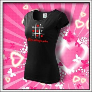 Love always wins - dámske čierne