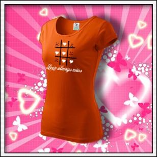 Love always wins - dámske oranžové