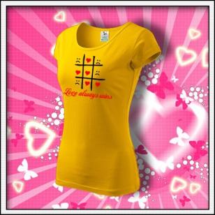 Love always wins - dámske žlté