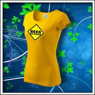 Beer on Board - dámske žlté