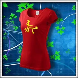 Čínsky znak - dámske červené