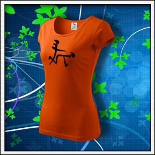 Čínsky znak - dámske oranžové