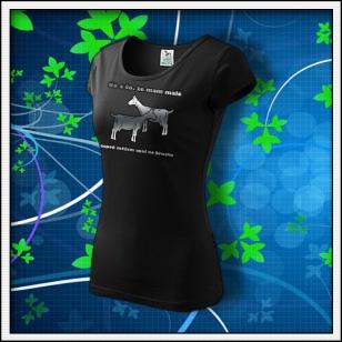No a čo, že mám malé kozy - dámske tričko reflexná potlač