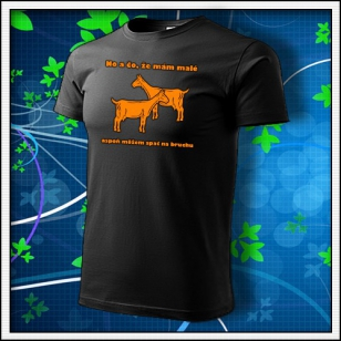 No a čo, že mám malé kozy - unisex s oranžovou neónovoupotlačou