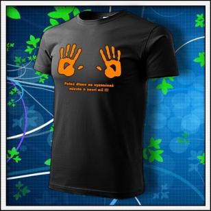 Dlane - unisex s oranžovou neónovou potlačou