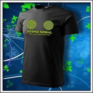Hypno Spiral - unisex so žltou neónovou potlačou