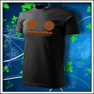 Hypno Spiral - unisex s oranžovou neónovou potlačou
