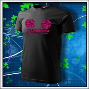 Hypno Spiral - unisex s ružovou neónovou potlačou