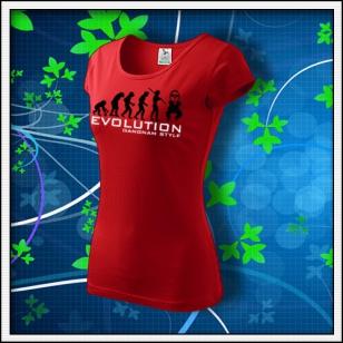 Evolution Gangnam Style - dámske červené