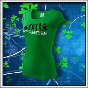 Evolution Gangnam Style - dámske trávovozelené