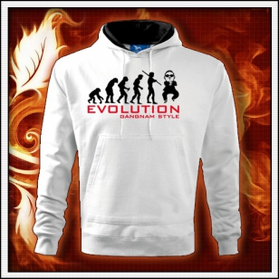 Evolution Gangnam Style - biela mikina