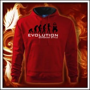 Evolution Gangnam Style - červená mikina
