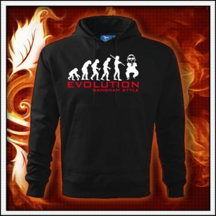 Evolution Gangnam Style - čierna mikina