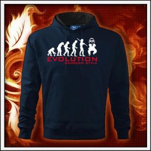 Evolution Gangnam Style - tmavomodrá mikina