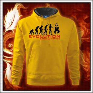Evolution Gangnam Style - žltá mikina