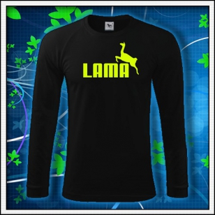 Lama - čierne DR pánske so žltou neónovou potlačou