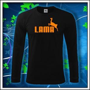 Lama - čierne DR pánske s oranžovou neónovou potlačou