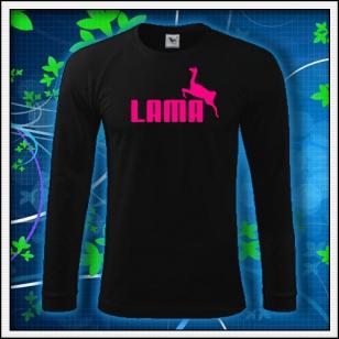 Lama - čierne DR pánske s ružovou neónovou potlačou