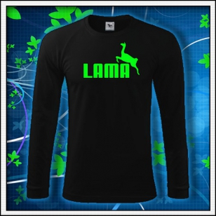Lama - čierne DR pánske so zelenou neónovou potlačou