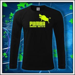 Pumba - čierne DR pánske so žltou neónovou potlačou