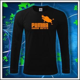 Pumba - čierne DR pánske s oranžovou neónovou potlačou