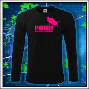 Pumba - čierne DR pánske s ružovou neónovou potlačou