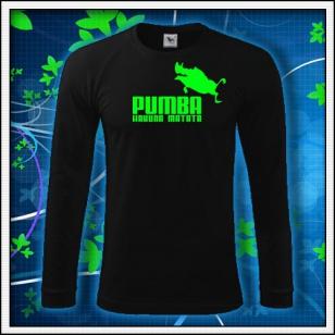 Pumba - čierne DR pánske so zelenou neónovou potlačou