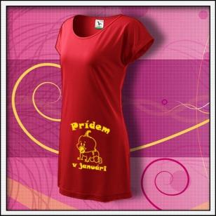 Prídem v ........ - červené tričko / šaty