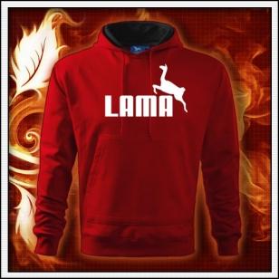 Lama - červená mikina