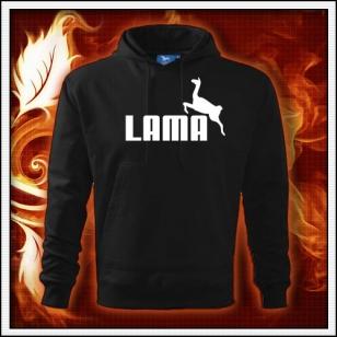 Lama - čierna mikina