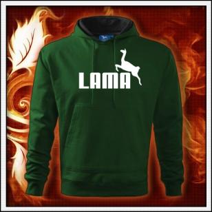 Lama - fľaškovozelená mikina