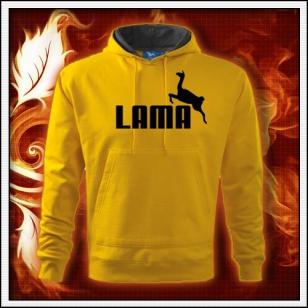 Lama - žltá mikina