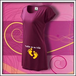 Teším sa na VÁS - fuchsiové tričko / šaty