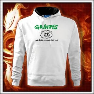 Grínpís - biela mikina