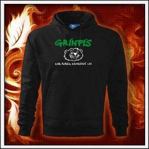 Grínpís - čierna mikina